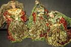 Vtg Large 3 Three Wisemen Kings Figures Nativity Magi 24 Not Paper Mache