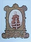 Antique Victorian Embossed Brass Picture Photo Frame 1880's Child Photo