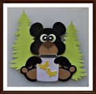 Cute Black Bear Premade Paper Piecing Embellishments 4 Pages SC4S