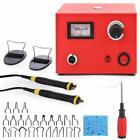 Crafts Wood Burning Tool Pyrography Machine Kit 50w Dual Penaccessory 110v220v
