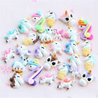 10pcs Mixed unicorn flatback resin cabochon for Diy phone deco scrapbooking SP