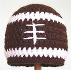 NEW! All sizes! Hand Crochet Football Hat Beanie Made TO ORDER