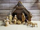 Fontanini Heirloom Nativity Set 1991 made in Italy 8 piece with Manger
