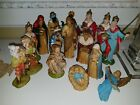 16 Piece Vintage Nativity Figures