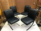 set of 4 Vintage Milo Baughman dining chairs for Directional Chairs