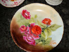 Vintage Hand Painted RC Versailles Bavaria Cabinet Plate Red Roses