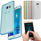 Front+Back Clear Soft Silicone Case Cover For Samsung Galaxy S8 S9 A6 A8 J2 2018