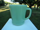 FIRE KING JADE-ITE GREEN REGULAR D HANDLED COFFEE MUGS