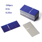 100pcs 05V 025W Solar Cell High Efficiency Solar Panel Small Battery Charger