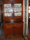 antique hoosier style kitchen cabinet cupboard vintage display case shipped free
