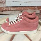 Zara Pink Suede Girls High Top Zip Shoes SNeakers US Size 2 Retail 35