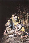 ITALIAN SAMMARTINO GIUSEPPE NATIVITY ARTIST PAINTING REPRODUCTION HANDMADE OIL