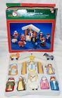 Santas World Kurt S Adler Childs First Nativity Hand Carved Painted Wood Set
