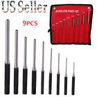 9pcs set Forged Steel Roll Pin Pilot Punch Tools with Case Rifle Gunsmithing US