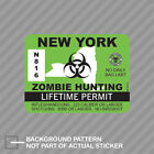 New York Zombie Hunting Permit Sticker Decal Vinyl Outbreak Response Team