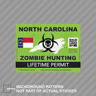 Zombie North Carolina State Hunting Permit Sticker Decal Vinyl Nc