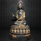 Excellent Great Unusual Archaic Chinese Bronze Buddha Seated Statue Sculpture