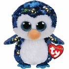 TY Beanie Boos Payton the Penguin with Reversible Sequins and Red Heart Tag