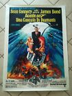 JAMES BOND DIAMONDS ARE FOREVER Original Movie Poster 39x55 Italian LINEN BACKED