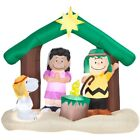 6 Ft SNOOPY CHARLIE BROWN NATIVITY SCENE Christmas Airblown Inflatable PEANUTS