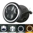 5 3 4 575inch LED Projector Headlight Hi Lo for Harley Motorcycles Dyna Round
