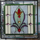 Stained Glass window hanging 21 X 21 Brass frame