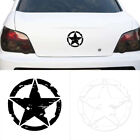 1x new White Black Army Military Star Car Truck Sticker Decal For Jeep Wrangler