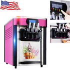 Stainless Steel Commercial Soft Ice Cream Making Machine Desktop 3 Flavors 20L H