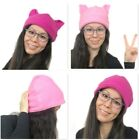 Reversible Pussyhat, Soft Fleece Pussycat Pussy Cat Womens March Hat with Ears