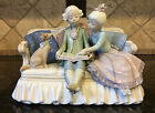 Lladro STORY TIME #5229, Boy and Girl on Couch with Dog, RARE~ Mint