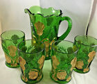 Vintage Mosser Glass Pitcher and glasses Never used (NIB)