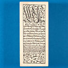 Medieval Manuscript Rubber Stamp German Calligraphy Stampa Rosa Tin Can Mail