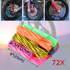 72x Wheel Spoke Wraps Skin Coat Trim Covers Pipe Dirt Bike Motocross Motorcycle