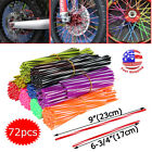 72x Wheel Spoke Wraps Skins Cover Guard Protector Motorcycle Motocross Dirt Bike