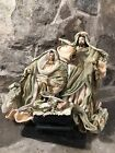 Nativity Scene Clothtique Material Stunning Movable Arms On Wood