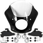 Clear Fairing Kit + Mount For Harley Davidson Sportster Custom XL1200C 1996-2010