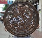Chinese Antique Huanghuali Wood Hand Carved peony Phoenix ancient Screen Plate