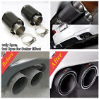 Steel+Real Carbon Fiber Glossy Curled 76 101mm Car Tail End Pipe Muffler Tip