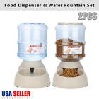 2 Pet Dog Puppy Cat Automatic Water Dispenser Food Dish Bowl Feeder 375L