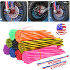 72x Spoke Skins Coat Cover Wraps Wheel Rim Guard Protector Motorcross Dirt Bike