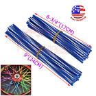 Wheel Spoke Wraps Skins Cover Guard Protector Kit Motocross Dirt Bike 72pcs Blue