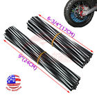 72Pcs Motorcycle Bicycle Wheel Spoked Protector Wraps Rims Skin Trim Covers Pipe