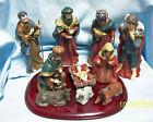 NATIVITY SET Vintage Santas Collection Navitivity Set 10 Figurines Wooden Base