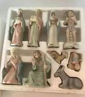 LEFTON THE CHRISTOPHER COLLECTION 9 PIECE 1983 NATIVITY