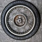 yamaha rd350 rear wheel and nice vintage pirelli tire