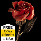 Valentines Day Gifts For Her Hand Forged Red Steel Rose