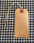 100 NEW SIZE #3 Coffee Stained Primitive Antique Store Price Gift Tags W/ STRING