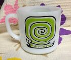 Vintage Federal Milk Glass Mug SNAIL MOTIF Estate NR