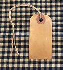 100 SMALL Coffee Stained Primitive Antique Store Price Gift Tags Crafts LOT A-11