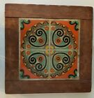 California Tile Table Top Only Wall Hanger Taylor 4 Tiles 6x6 Original Wood